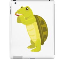 Cute turtle playing music with harmonica iPad Case/Skin