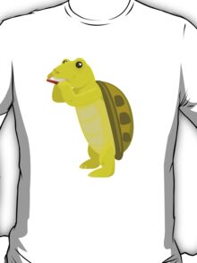 Cute turtle playing music with harmonica T-Shirt