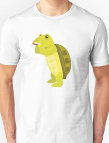 Cute turtle playing music with harmonica Unisex T-Shirt