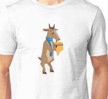 Cartoon goat playing music with panpipe Unisex T-Shirt