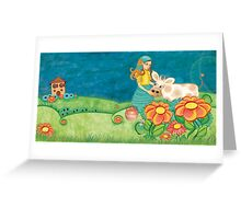 The Milkmaid Collection - Illustration Nr. 4 Greeting Card