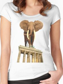 space elephant Women's Fitted Scoop T-Shirt