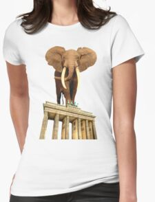 space elephant Womens Fitted T-Shirt