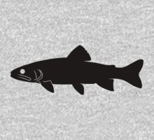 Trout Fish Silhouette (Black) by SandpiperDesign