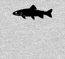 Trout Fish Silhouette (Black) Unisex T-Shirt
