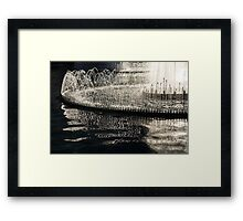 Dancing Silver Fountains Framed Print