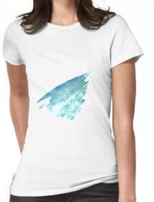 Water Strokes | Cobalt blue | Womens Fitted T-Shirt
