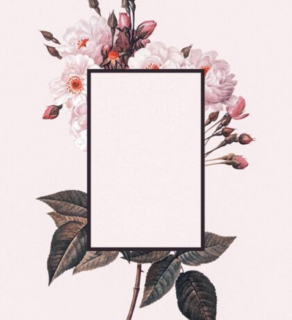 The 1975 Flower Rectangle Sticker