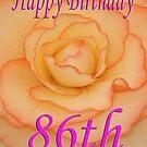 Happy 86th Birthday Flower by martinspixs