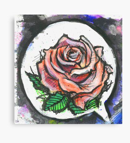 Painterly Rose Canvas Print