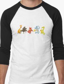Animal band playing music Men's Baseball ¾ T-Shirt