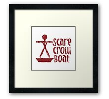 Scarecrow Boat Framed Print