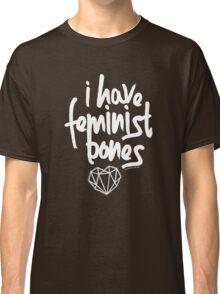 """I Have Feminist Bones"" -Gillian Anderson Classic T-Shirt"