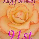 Happy 91st Birthday Flower by martinspixs