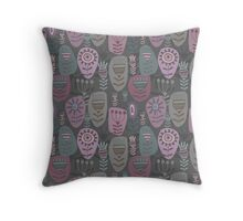 Decoration with abstract flower Throw Pillow