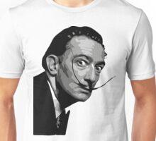 Salvador Dali Black Portrait Unisex T-Shirt