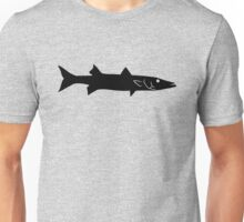 Barracuda Fish Silhouette (Black) Unisex T-Shirt