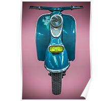 Vintage Blue Scooter Poster