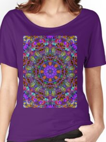 Fractal Floral Abstract Women's Relaxed Fit T-Shirt