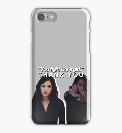 marvel females you fight like a girl iPhone Case/Skin