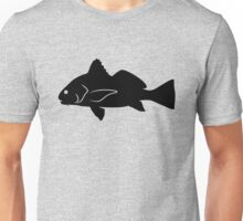 Black Drum Fish Silhouette (Black) Unisex T-Shirt