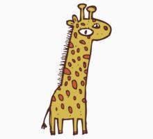 Funny cartoon giraffe Baby Tee