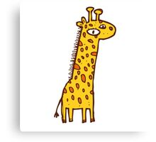 Funny cartoon giraffe Canvas Print
