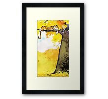 Calvin and Hobbes Lazy Sunday's Framed Print