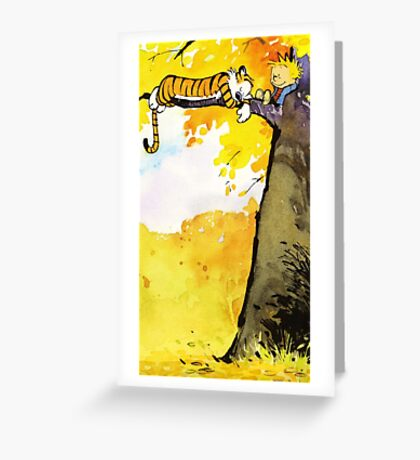 Calvin and Hobbes Lazy Sunday's Greeting Card