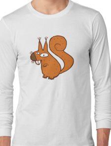 Cute cartoon squirrel Long Sleeve T-Shirt