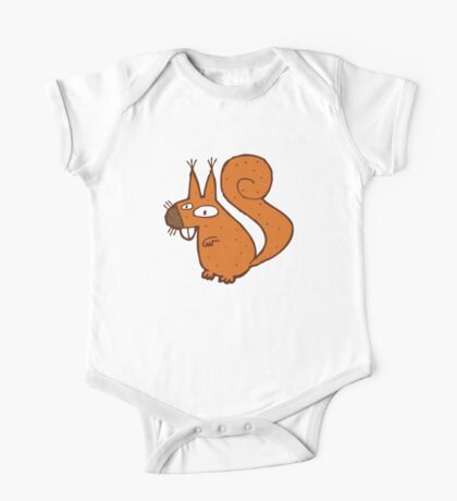 Cute cartoon squirrel One Piece - Short Sleeve