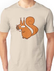 Cute cartoon squirrel Unisex T-Shirt