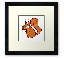 Cute cartoon squirrel Framed Print