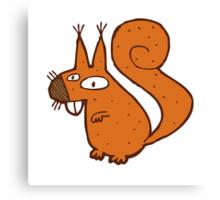 Cute cartoon squirrel Canvas Print