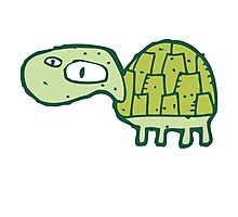 Funny cartoon turtle Photographic Print