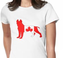 """""""Canada"""" Pit Bull Terrier Womens Fitted T-Shirt"""