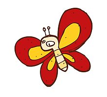 Cute funny cartoon butterfly by berlinrob