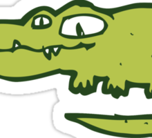 Funny cartoon crocodile Sticker