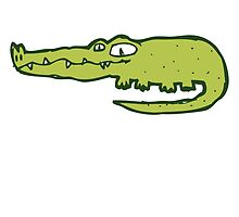 Funny cartoon crocodile by berlinrob