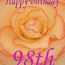 Happy 98th Birthday Flower by martinspixs