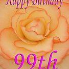 Happy 99th Birthday Flower by martinspixs