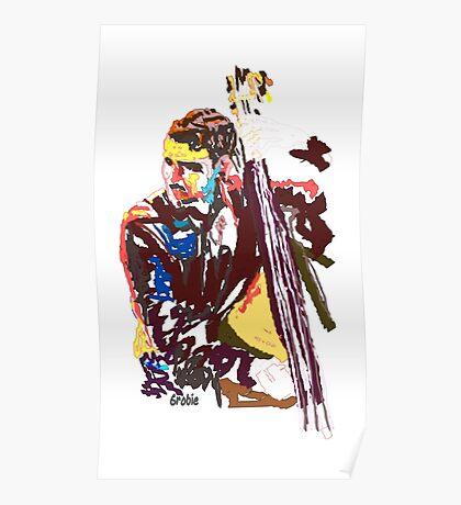 Jazz Bass player Poster