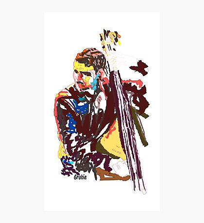 Jazz Bass player Photographic Print