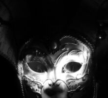 White In the Dark - Venetian Mask Sticker