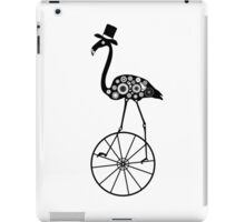 Steampunk bird. Vintage style flamingo on a wheel. iPad Case/Skin
