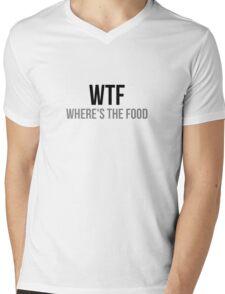 WTF Where's The Food Mens V-Neck T-Shirt