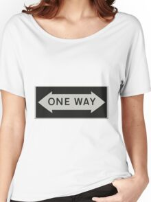 One way either way - Road sign USA  Women's Relaxed Fit T-Shirt