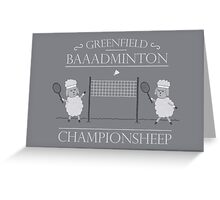 The Championsheeps Greeting Card