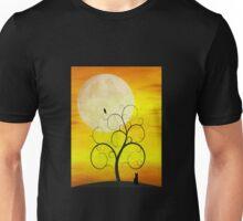 Autumn Moon Cat Unisex T-Shirt