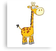 Cute cartoon giraffe smiling Canvas Print